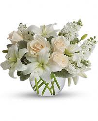 white floral arrangements teresina inn floral arrangements