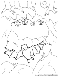 bat cave coloring create printout activity