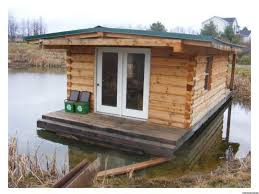 Tiny Home Listings by A Floating Log Cabin That Combines Tiny Home Living And Lake House