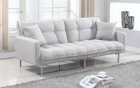 Modern Single Sofa Bed Living Room Futon Sleeper Sofa Tufted Futon Single Futon Chair