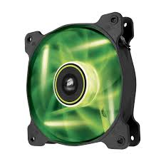 1440 the fan green bay air series sp120 led green high static pressure 120mm fan twin pack