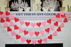 Valentines Day Decoration Valentines Garland Valentines Day Decorations Wedding