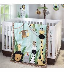 Crib Bedding Jungle Peek A Boo Jungle 5 Crib Bedding Set