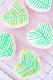 Lilly Pulitzer For Starbucks Lilly Pulitzer Inspired Palm Leaf Heart Cookies Best Friends For