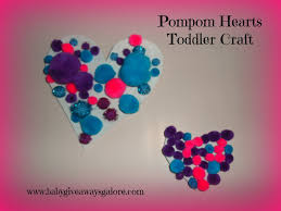 pompom hearts toddler craft country fit family
