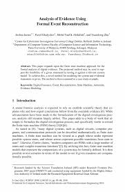 Example Of A Formal Essay Analysis Of Evidence Using Formal Event Reconstruction Springer