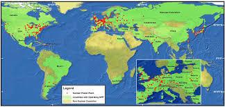 Fukushima Radiation Map Worldwide Power Plants Map The Blog Of Mystica