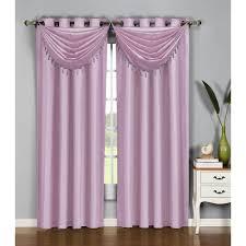 Lilac Curtains Window Elements Semi Opaque Faux Silk 54 In W X 95 In L
