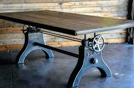 crank table base for sale industrial crank table base vintage old home interior 29 contactmpow