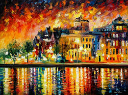Home Decor Paintings For Sale Copenhagen U2014 Palette Knife Oil Painting On Canvas By Leonid