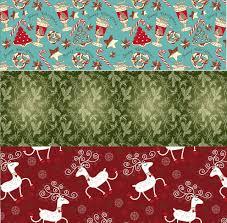 retro christmas kraft wrapping paper sets