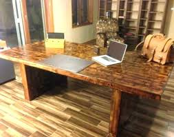 Office Desks Wood Reclaimed Wood Desks Office Desk Custom Within Ideas 10