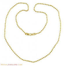 22k chain 18 inch chfc10470 22k gold chain with small