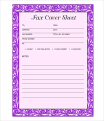 Fax Cover Sheet Template Pdf Fax Cover Page Template Sle My Fax Business Microsoft