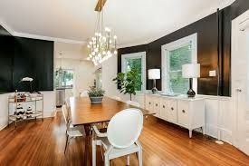 Transitional Dining Rooms Dining Room With Crown Molding U0026 Chandelier In Mamaroneck Ny