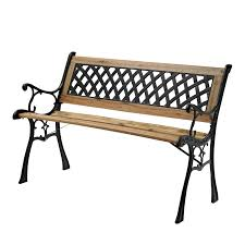 warehouse bench find mimosa cast iron back timber bench at bunnings warehouse