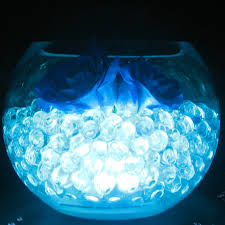 wedding table decoration top table centrepiece led light with aqua