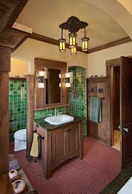 Mission Style Vanities Minneapolis Mission Style Bathroom Craftsman With Wainscoting