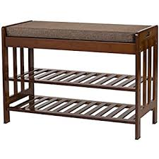 Hidden Storage Shoe Bench Amazon Com Homcom Entryway Shoe Storage Organizer Bench Brown