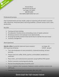 Manager Experience Resume How To Write A Perfect Barista Resume Examples Included