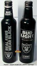 bud light aluminum bottles nfl collectible aluminum beer bottles ebay