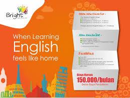 kursus design grafis jakarta desain banner kursus bahasa inggris bright untuk lia henora di halim