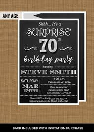 design printable blank 70th birthday invitations with card olive