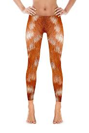 realistic deer fur print leggings shiny durable and these