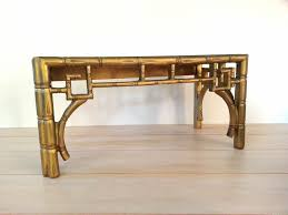vintage table chinoiserie faux bamboo coffee table hollywood
