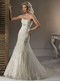 hem wedding dress slight trumpet skirt wedding dress with strapless and beaded lace
