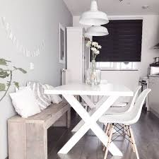white table with bench white dining table with bench chic design dining room with bench