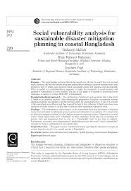 lo que no sab 237 social vulnerability analysis for sustainable disaster mitigation