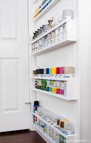 diy paint storage shelves office u0026 craft room makeover week 4