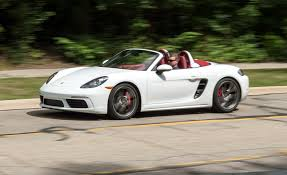 porsche boxster 2017 2017 porsche 718 boxster in depth model review car and driver