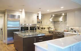 Kitchen Stainless Steel Backsplash by Kitchens Stunning Kitchen With U Shaped Kitchen Counter And