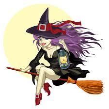 cartoon witch 01 vector free vector 4vector