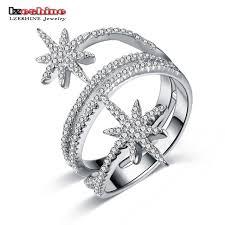 rings star images Lzeshine new luxury star rings for women 100 925 sterling silver jpg