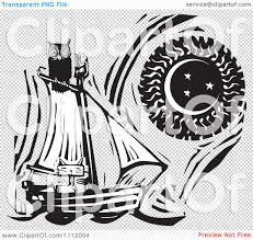 clipart owl black and white clipart owl perched atop a cat in a sailboat against a sun and