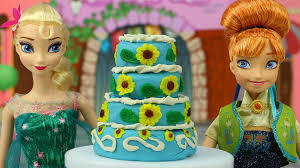 how to make a frozen fever cake with play doh disneytoysfan youtube