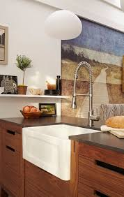 apartment therapy kitchen island white apron front sink by american standard kitchen pinterest