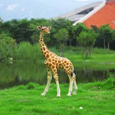 large resin giraffe ornaments outdoor sculpture fiberglass animal