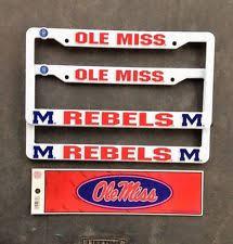 ole miss alumni sticker ole miss rebels ncaa license plate frames ebay