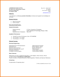 Engineering Student Resume Sample Resume Iit Student Augustais