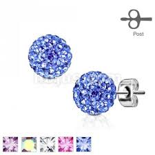 surgical steel stud earrings pair of 316l surgical steel stud earring with multi ferido