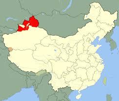 Turkestan Map Xinjiang