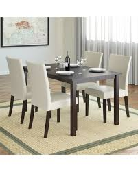 Cappuccino Dining Room Furniture Fall Savings On Corliving Drg 795 Z3 Atwood 5 Piece Dining Set