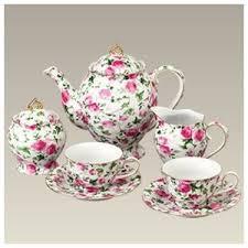 roses tea set pink cookware ishoppink