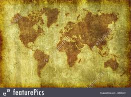 Old Map Background Old Grunge Map Of The World Background