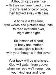 baby shower poems book baby shower