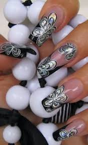 â white lace nail design nail art tutorial designs pinterest